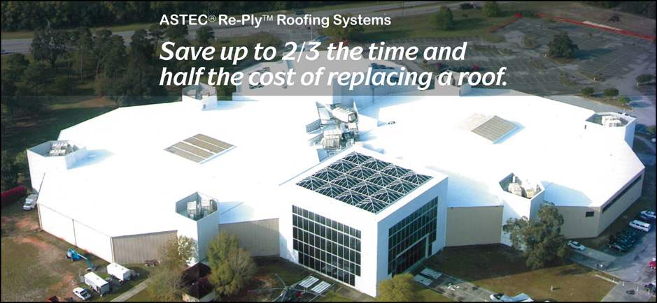 Save Up to 2/3 the time and half the cost of replacing a roof.